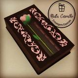 Caixa Rosa Para Trufas - Arquivo De Corte Silhouette