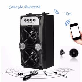 Caixa De Som Bluetooth Portátil Fm Usb Micro Sd 10w Potente