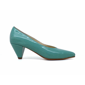 Natacha Zapato Mujer Stiletto Charol Aqua #1121