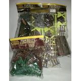 Soldados Plásticos Con Camion, Avion, Hangar,5 Paquetes!!!