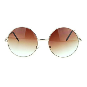 Hippie Retro Groovy Gradiente Oversize Circle Lens Redond...