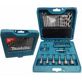 Kit Jogo 36 Pcs Brocas Madeira Metal Bits P-90320 Makita