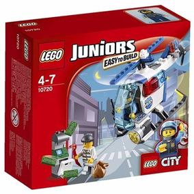 Persecución En Helicóptero De La Policía - Juniors - Lego