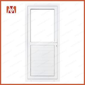 Puerta Pvc Saphir Con Umbral Medio Vidrio Vs 100x200