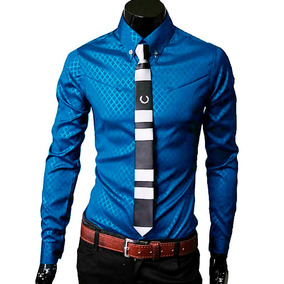 Camisas Hombre, Camisa Vestir Caballero, Slim Fit, Casuales