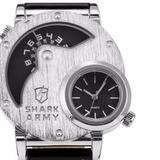 Reloj Shark Army, Marcador Analogo Doble Hora