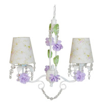 Lustre Luminária Exclusivo 2 Lampadas Pendente Menina Flor