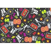 Tnt Estampado Retrô Disco Anos 70/80 P/ Festas Por Metro