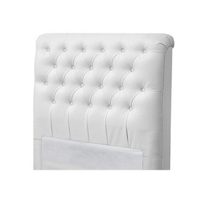 Cabeceira Casal Livia Cama Box De 160 Cm Corino Branco