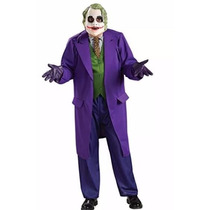 Disfraz Traje Guason Joker Batman Dark Night Adulto Mascara