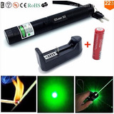 Puntero Laser Verde Potente Recargable + Bateria + Cabezal