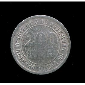 Moeda Império Brasil - 200 Réis - 1876 -cuproníquel - Bc L29