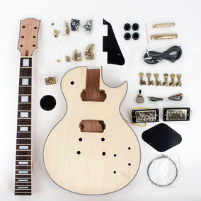 Kit De Guitarra Desmontada Les Paul Mogno Cst002 . Grtia