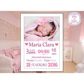 Quadro De Nascimento-maternidade-recém Nascido-infantil 023