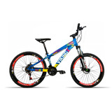 Bicicleta Aro 26 Vikingx X25 21v Shimano Vmax Spinner Azul