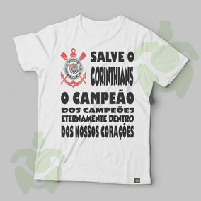 ec259389b7 Camiseta Infantil Corinthians Com Hino Queima Total - Camisetas e ...