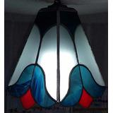 Lampara Vitraux De Colgar Diseño Tulipan-iluminacion-hogar