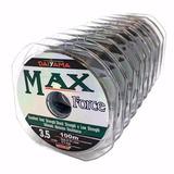 Linha Pesca Max Force Dayama 10 0,52mm 10 Carretéis 24,3kg