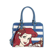 Ariel La Sirenita Bolsa Convertible Striped Disney Loungefly