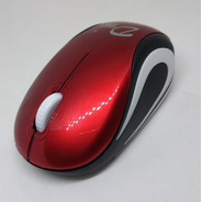 Mouse Inalamrico 2.4g Pequeño Color Rojo