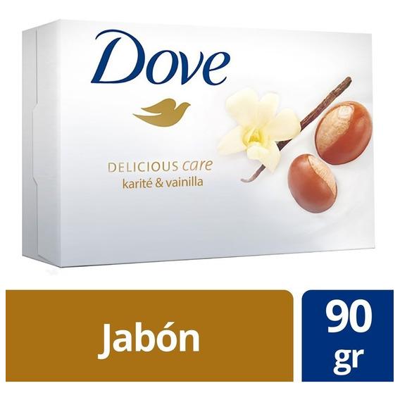 Jabón Pastilla Dove Karité Y Vainilla 90grs.