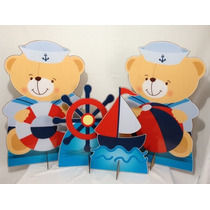Display De Chão Para Festa Ursinho Marinheiro Com 4 Peças