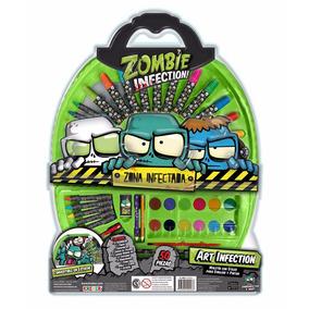 Zombie Infection Set De Arte Escolar 49 Piezas Educando