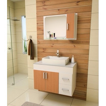Armário / Gabinete Para Banheiro Veneza Luxo