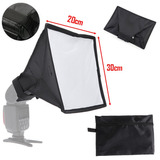Softbox Caja De Luz Difusor 20x30 Para Flash Speedlite + Est