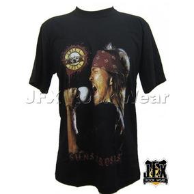 Camiseta Masculina Rock Banda Guns N Roses Axl Cantando