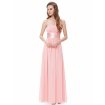 Vestido De Festa Rosa Chá - Pronta Entrega-plus Size
