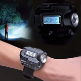 Relógio Digital Led Com Lanterna Tático Noturno Camping Top