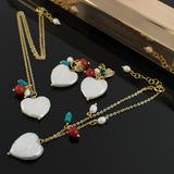 Collar Aretes Pulsera Mujer Cadena Oro Gfi Perlas Cultivadas