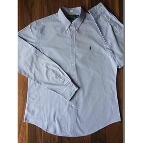 02789b45f5 Camisa Social Polo By Ralph Lauren G Slim Fit Azul Importada