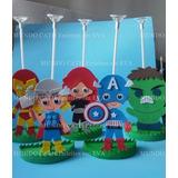 Centro Mesa Lembrancinha Convidados Vingadores Hulk Capitao