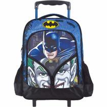 Mochila Escolar Infantil Rodinhas Menino Batman Coringa 6180