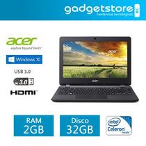 Laptop Acer Aspire 11.6 Dual Core 2gb 32gb Usb3.0 Windows 10