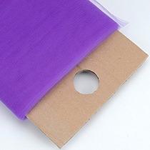 Bbcrafts Púrpura Poliéster Tela De Tul De Pernos 54 Pulgada