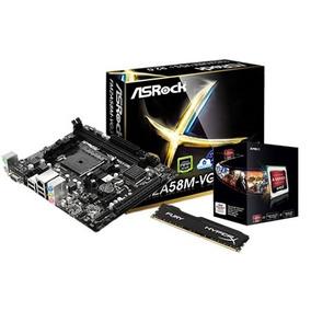 Kit Actualizacion Gamer A6 6400k 3.9ghz X 2 4gb Ram Fury