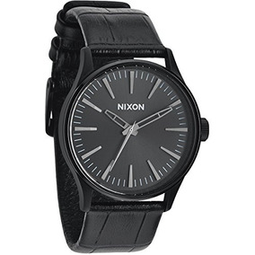 Nixon The Sentry Black Dial Stainless Steel Leather Quartz M