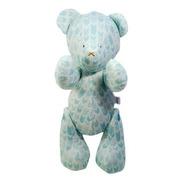 Urso Ursinho De Pelúcia Veludo Setas Tribais Menta 30cm