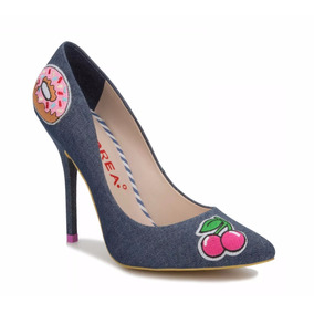 Stilettos Andrea Mezclilla Pop Art Dibujos Parches 2509044