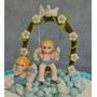 Adorno De Tortas Para Bautismo Varon\nene En Porcelana Fria