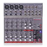 Consola Mixer 4 Mic/linea + 4st Eq 3 Bnd Phonic Am125