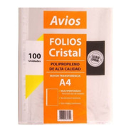 Folios Stendy Borde Blanco A4 X100 1º Calidad 40 Mic