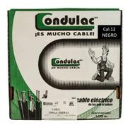 Caja 100 Mts Cable Negro Thw Cal 12 Awg 100%cobre Condulac