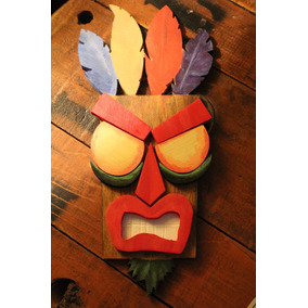 Aku Aku Crash Bandicoot Placa Decorativa