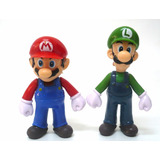 Boneco Mario Bros Luigi Super Nintendo Pvc Colecionável
