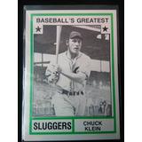 Chuck Klein Baseballs Greatest 1982 5° T. Coronado En Bateo