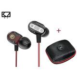 Kz Zse + Estuche Kz Microfono Dual Driver Bass Audifonos